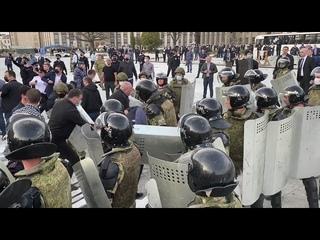 Митинг Бунт Осетия ОМОН Народ  восстал