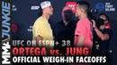 UFC on ESPN 38 faceoff highlights