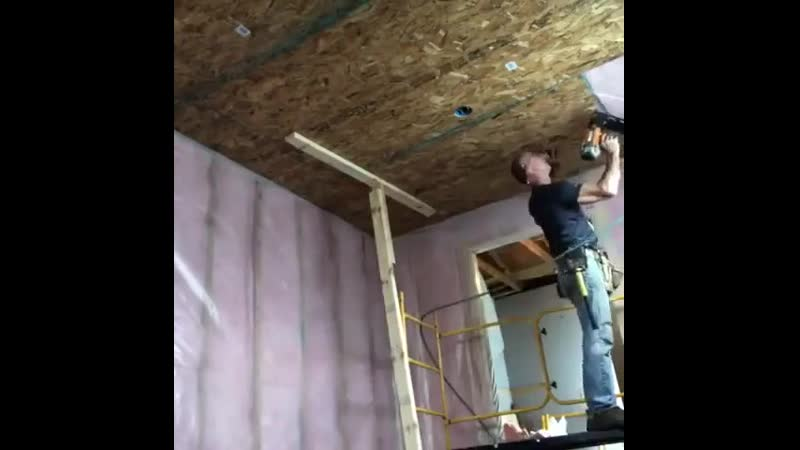 Как подшить потолок из ОСБ в одни руки Идеи для сада дача ландшафт огород