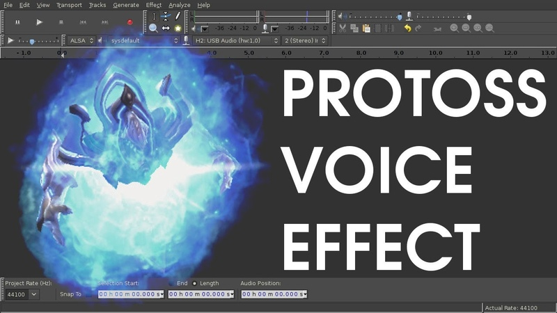 DIY StarCraft Protoss Voice Tutorial for Audacity