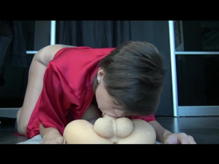Hot french girl plays with toy big dick