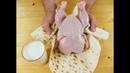 Заверните курицу в лаваш и залейте кефиром Рецепты Другой Кухни