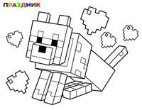 майнкрафт животные раскраска #3