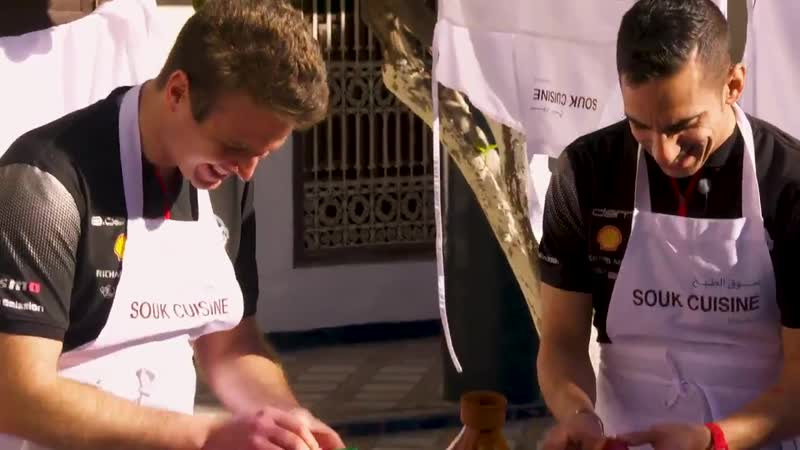 Check out Sebastien buemi and oliverrowland1 trying their hand at Moroccan cooking at the MarrakeshEPrix They are just as tale