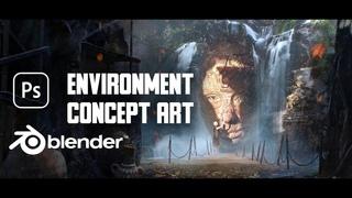 Environment Concept Art - Improvisation in Blender + 3D Coat + Photoshop   Humble   Alexander Pronin
