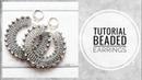 МК - Серьги-кольца из бисера и граненых бусин Tutorial - Beaded and faceted bead ring earrings