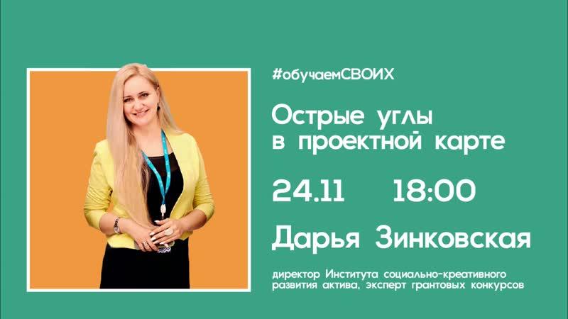 Отрывок вебинара по социальному проектированию для молодежи Челябинской области