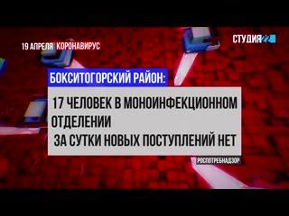 Коронавирус: информация по Бокситогорскому району на 19 апреля