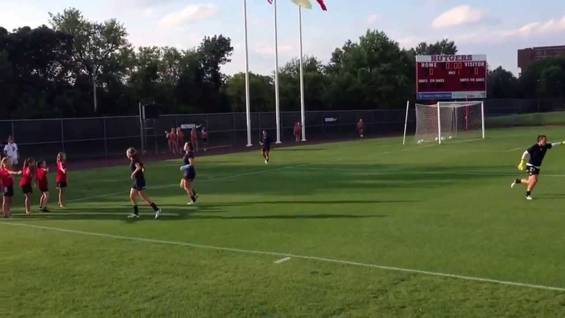 Sky Blue FC Players Warming Up 8/3/13