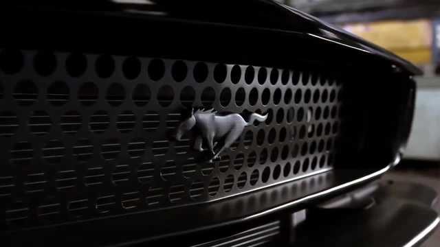 American black beast Ford Mustang Out of control