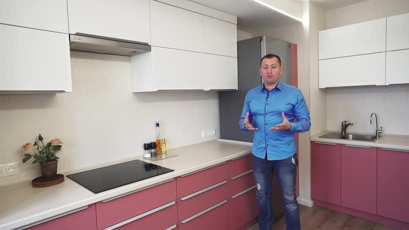 Обзор кухни в Эмали от компании Мебелит на ул. Бутлерова