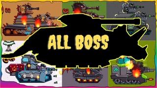Game bắn xe tăng Quái vật - Tổng hợp trận chiến Godzilla #8 | Dino Tanks | Phim hoạt hình về xe tăng