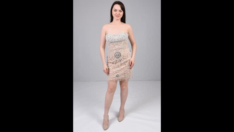 Коктейльное платье мини расшитое бусинами 200733 309616