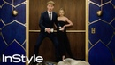 Joey King Calum Worthy and Sabrina Carpenter 2020 Golden Globes Elevator InStyle
