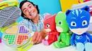 Pijamaskeliler için Play Doh sebzeli Waffle yapıyoruz! Oyun hamuru ile çocuk videosu