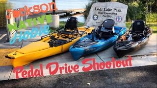 Pedal Drive Shootout: Native Titan VS Hobie PA VS Jackson Coosa FD