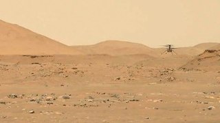Ingenuity Helicopter flies horizontally straight and back on Mars (Perseverance's Mastcam-Z video)