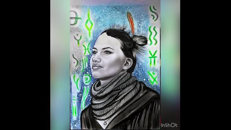 Портрет Саши Соколовой солистки группы Атлантида
