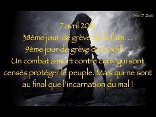 7 avril 2021 38ème jour de grève de la faim… 9ème jour de grève de la soif…