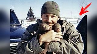 Мужчина спас медвежонка и забрал к себе домой... Вот, как он отблагодарил его спустя много лет...