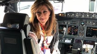 Female Pilot Shows Nerves of Steel
