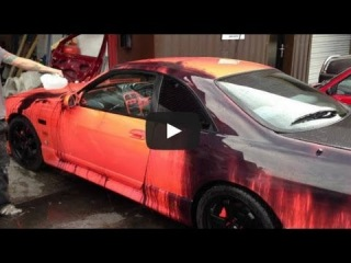 Too Fresh  Nissan Skyline R33 With Heat Sensitive Color Changing Paint Job!