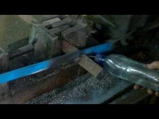 Так ріжуть заготовки бугелів на реактивні тяги
