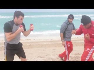 Совместная тренировка Григория Дрозда и Одланьера Солиса под руководством Педро Диаза