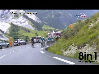 Во время велогонки Тур де Франс гонщик Арно Демаре воспользовался туалетом в доме на колёсах одного из зрителей / Demare's cheeky toilet break/ Tour de France cyclist Arnaud Demare stops to use fan's camper van for emergency toilet break