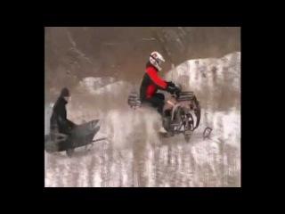 снего-квадроцикл apache track 180 квадро-снегоход