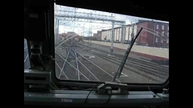 На ЧС6 - 020, заход в депо