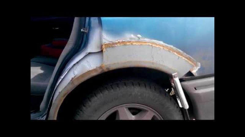 Изготовление и вварка арок и крыльев на ford scorpio своими руками Часть 2