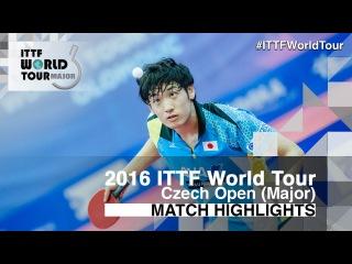 2016 Czech Open Highlights: Yuto Muramatsu vs Cho Seungmin (1/2)