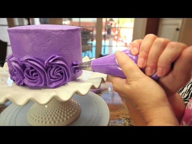 Rose Swirl Cake By Lori's Bakery