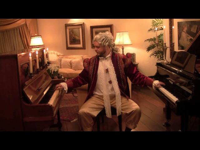 Mozart toca o Rondo Alla Turca em 2 pianos смотреть онлайн без регистрации