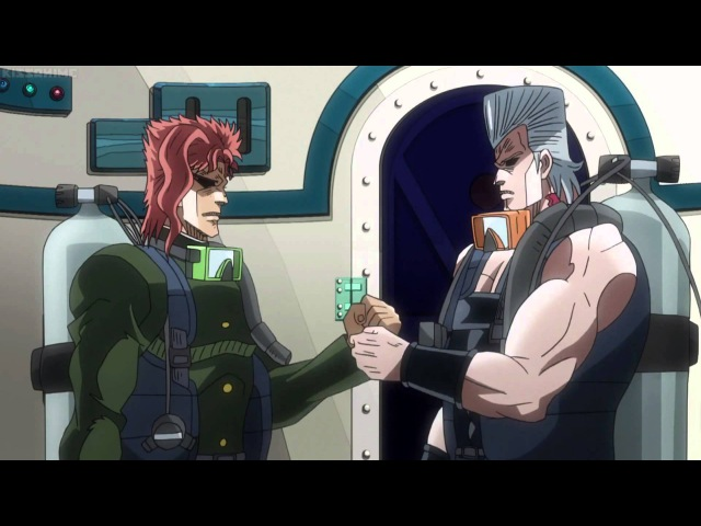 Jojo s Bizarre Adventure Kakyoin and Polnareff Manly Handshake