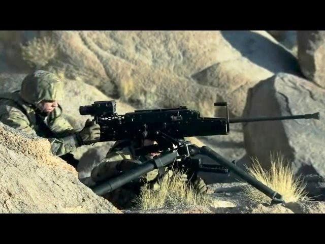 General Dynamics Ordnance Tactical Systems - XM806 .50 Cal Light Weight Machine Gun [480p]
