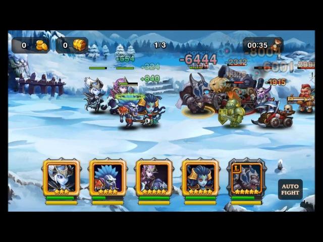 Heroes Charge Raid chap 13-4-1 2,2kk damage