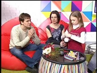 Юлия Дятко, Константин Кузнецов и их дочь Аня. Телеутро. Беларусь 2. Часть 2