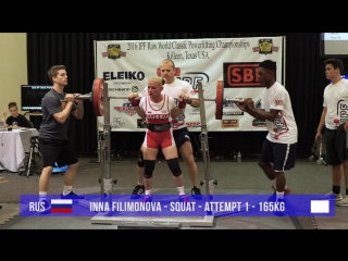 Sbd elite inna filimonova ipf world powerlifting championships 2016