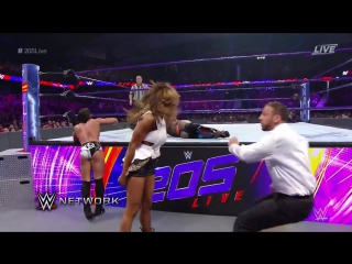 Wwe 205 live alicia fox gets ejected from ringside