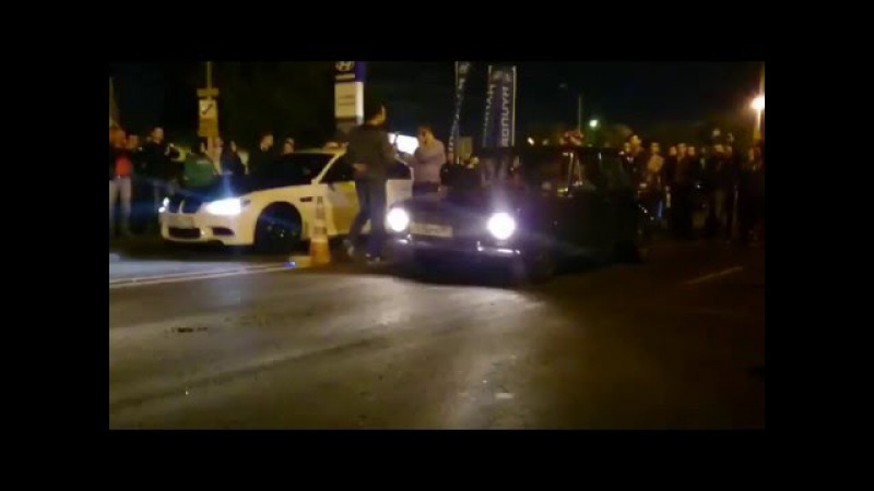 VAZ 2101 16V Turbo VS BMW M3 Turbo Drag Racing