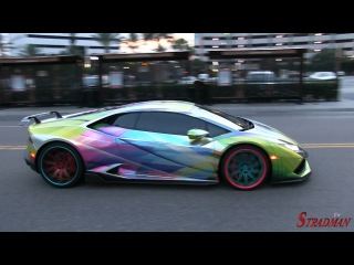 Crazy Supercars on goldRush Rally arrive in Florida!  Bugatti Veyron, Lamborghini Aventador!