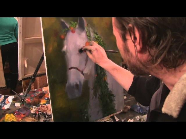 Видеоурок Сахарова Как научиться рисовать лошадь живопись для начинающих уроки рисования