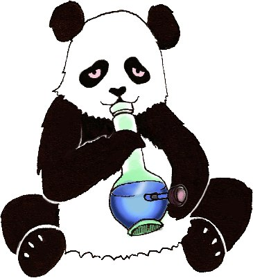 Картинка панда курит кальян