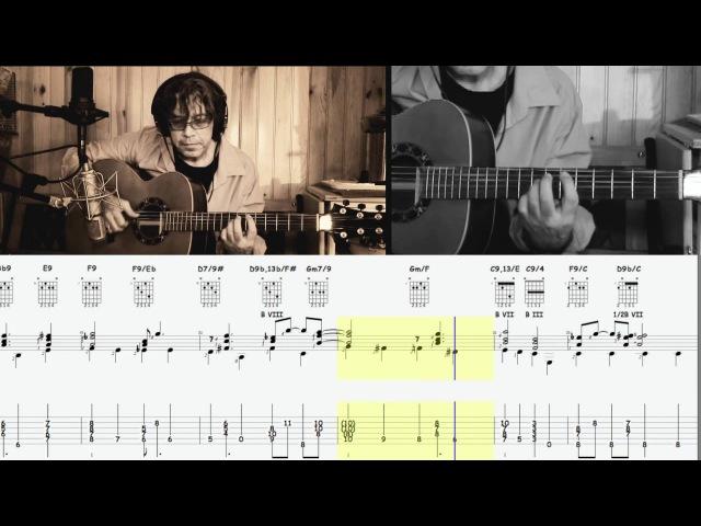 F BLUES WALKING BASS ON GUITAR (Guitar, score and tablature Yann Viet)