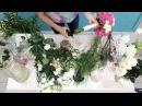 Букет невесты с розовыми гортензиями своими руками. Кухня декоратора 007