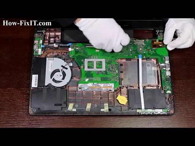 Asus X501A (X501U) disassembly and RAM replacement, разборка и замена ОЗУ ноутбука