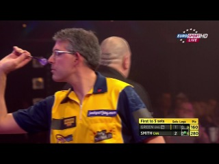 Robbie Green vs Jeff Smith (BDO World Darts Championship 2015 / Quarter Final)