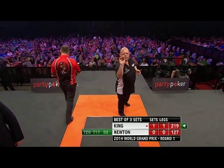 Mervyn King vs Wes Newton (World Grand Prix 2014 / First Round)